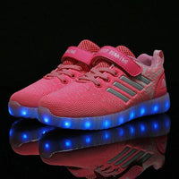 Adults & Kids LED Shoes Pink Sporty / 11 Shoes