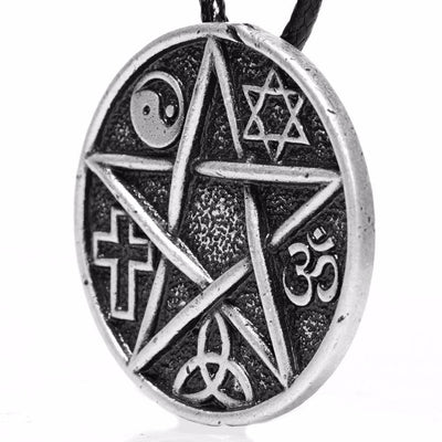 All Gods Are The Same God Pentacle Pendant Necklace Necklace