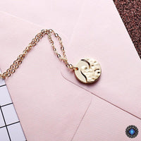 Amazing Rippled Wave Pendant Necklace Necklace
