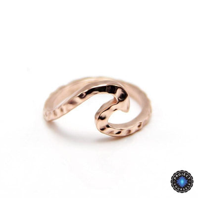 Amazing Rippled Wave Ring 7 / Rose Gold Rings
