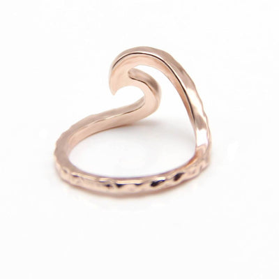 Amazing Rippled Wave Ring Rings