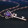 Amethyst Key of Transformation Necklace Necklace