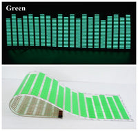 Animated Equalizer Car Sticker Green Stickers