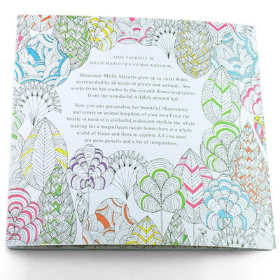 Anti-stress Animal Kingdom Coloring Book For All Ages Coloring Book