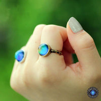 Antique Bronze Plated Mood Ring 7 Rings