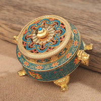 Antique Royal Tibetan Lotus Incense Burner Incense Holder