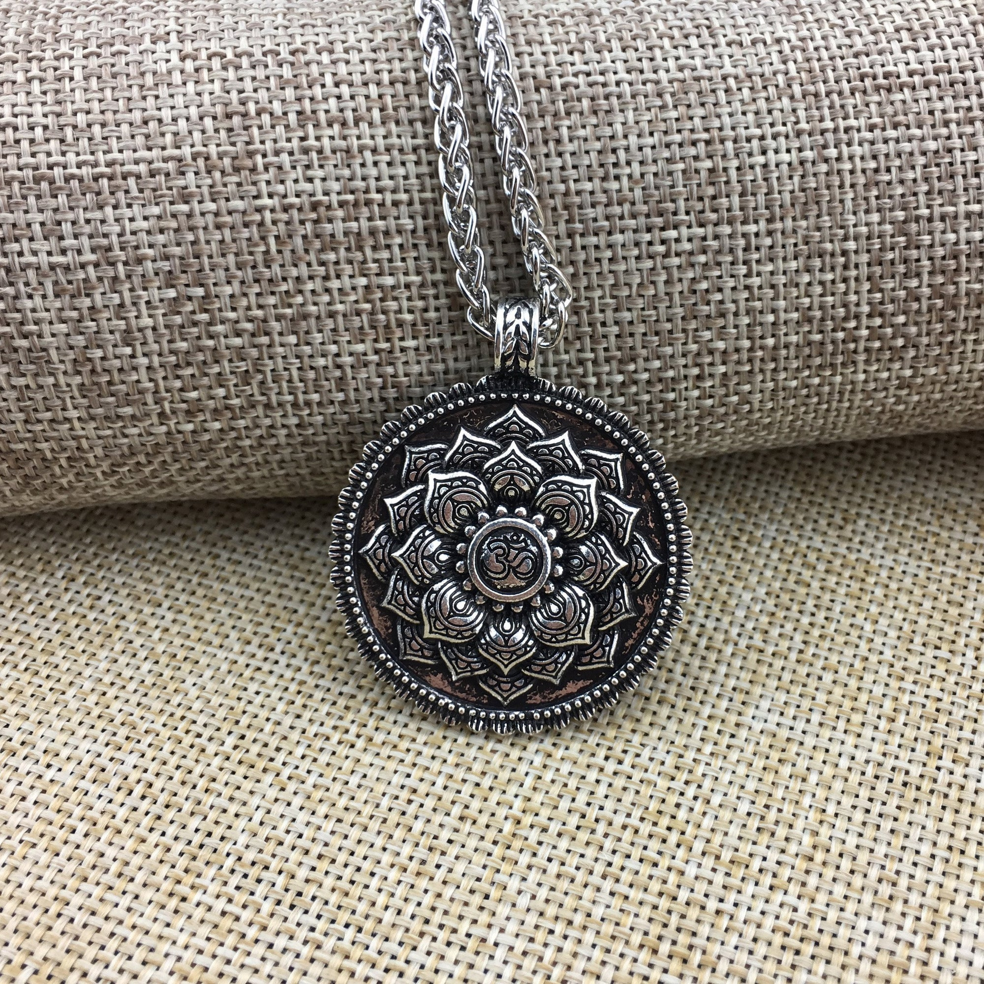 flower products diamond photogrid with coin herkimer redz lotus customizable necklace