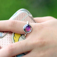 Antique Silver Plated Mood Ring Rings