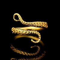 Antique Tentacle Adjustable Ring 18K Gold Plated Rings