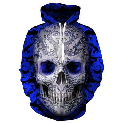 Arcane 3D Skull Hoodie Style 1 / S Clothing