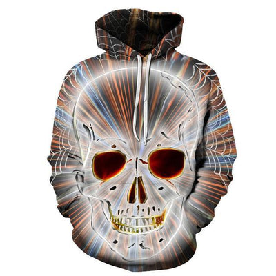 Arcane 3D Skull Hoodie Style 10 / S Clothing