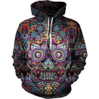 Arcane 3D Skull Hoodie Style 3 / S Clothing