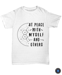 At Peace with Myself and Others Unisex Tee / White / sml Shirt / Hoodie