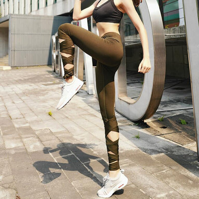 ac931f19ed Ballerina Tie Up Yoga Leggings - Project Yourself