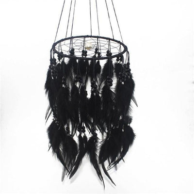 Beautiful Chandelier Dream Catcher Black / 45cm Dreamcatchers