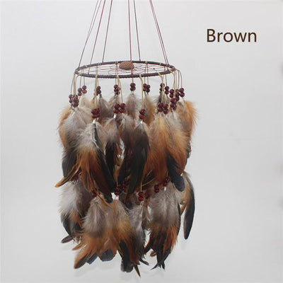 Beautiful Chandelier Dream Catcher Brown / 45cm Dreamcatchers