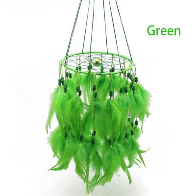 Beautiful Chandelier Dream Catcher Green / 45cm Dreamcatchers