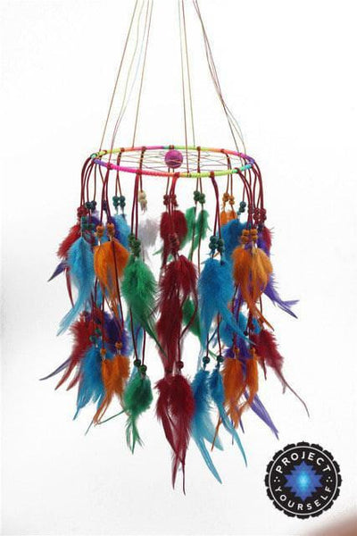 Beautiful Chandelier Dream Catcher Multi-Colored / 45cm Dreamcatchers