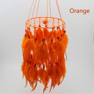 Beautiful Chandelier Dream Catcher Orange / 45cm Dreamcatchers