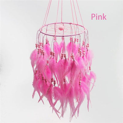 Beautiful Chandelier Dream Catcher Pink / 45cm Dreamcatchers