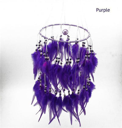 Beautiful Chandelier Dream Catcher Purple / 45cm Dreamcatchers