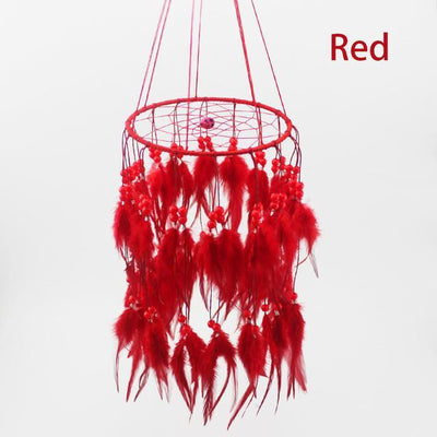 Beautiful Chandelier Dream Catcher Red / 45cm Dreamcatchers