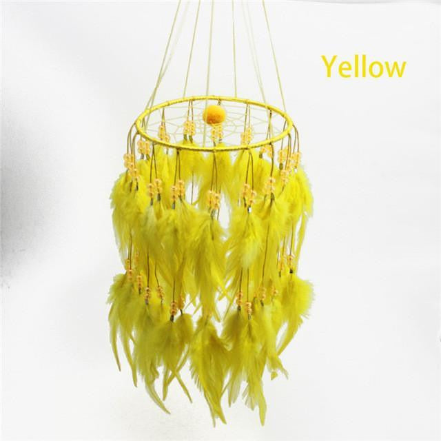Beautiful chandelier dream catcher project yourself beautiful chandelier dream catcher yellow 45cm dreamcatchers aloadofball Gallery