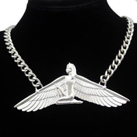 Beautiful Egyptian Goddess Isis Necklace Silver Plated Sri Yantra Necklace
