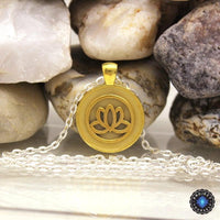 Beautiful Glowing Lotus Pendant Necklace Necklace