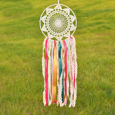 Beautiful Pink Pastel Crochet Lace Mandala Dream Catcher Dreamcatchers