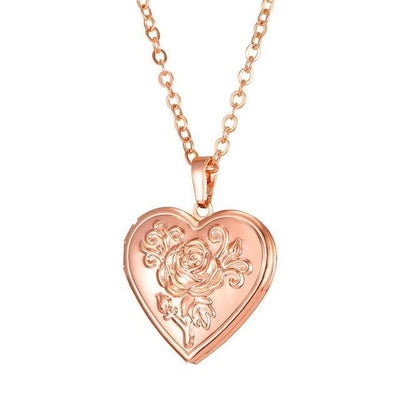 Beauty of my Heart Locket Rose Gold Necklace