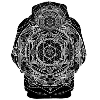 Blueprint Of The Universe Sacred Geometry Hoodie Clothing