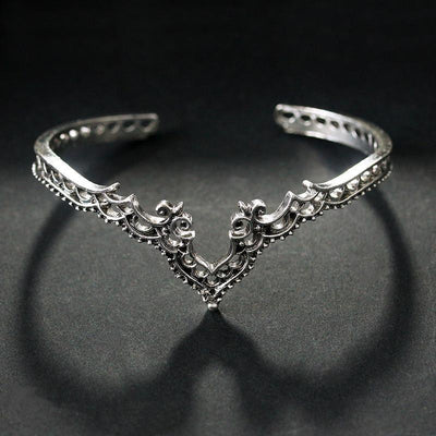 Bohemian Princess Love Bangle Silver Bracelet