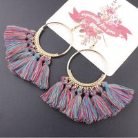 Boho Bliss Tassel Earrings Blue Party Earrings