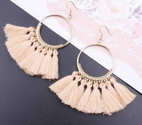 Boho Bliss Tassel Earrings Salmon Earrings