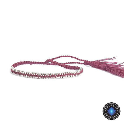 Boho Tasseled Seed Beads Friendship Bracelet Rose Bracelet