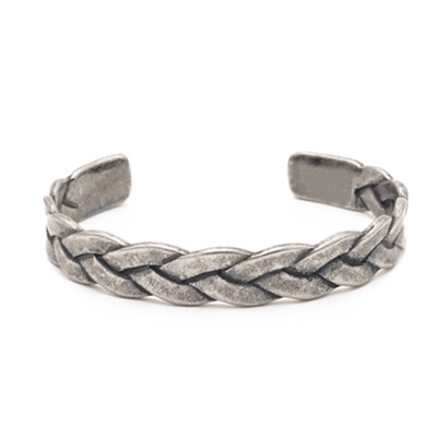 Braided Elements Bracelet Antique Silver Bracelet