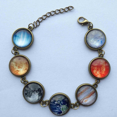 Brass Galaxy Jewelry with Antique Flair Bracelet Necklaces