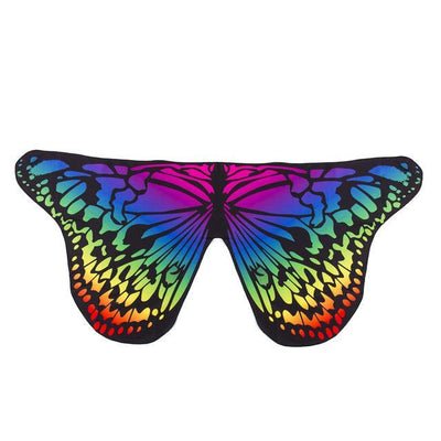 Butterfly Wings Beach Shawl Multicolored / One Size Tapestry