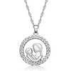 """You Are My World"" Mother & Child Crystal Studded Pendant Necklace"