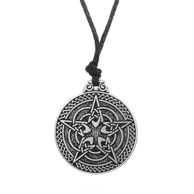 Celtic Knot Pentagram Pendant Adjustable Necklace Necklace