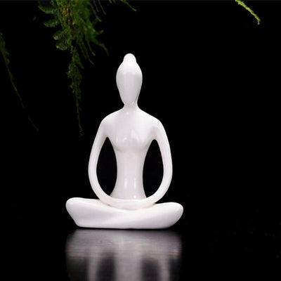 Ceramic Yoga Lady Figurine Type A Decor