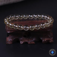 CERTIFIED Natural Citrine Pi Xiu Wealth and Prosperity Bracelet 8mm Without Pi Xiu Bracelet
