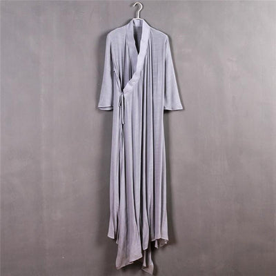 Chinese Style Xie Jin Sheer Meditation Clothing Gray Mind and Spirit