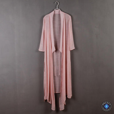 Chinese Style Xie Jin Sheer Meditation Clothing Pink Mind and Spirit