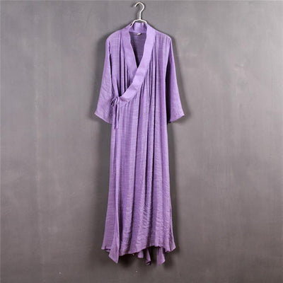Chinese Style Xie Jin Sheer Meditation Clothing Purple Mind and Spirit