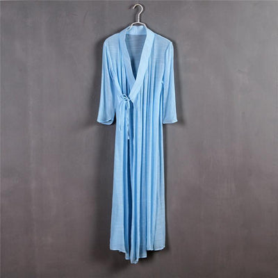 Chinese Style Xie Jin Sheer Meditation Clothing Sky Blue Mind and Spirit