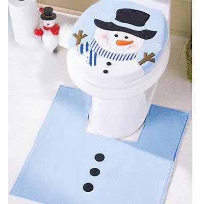 Christmas Snowman Bathroom Set Christmas