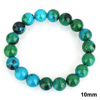 Chrysocolla Earth Stone Bracelet 10mm Bracelet