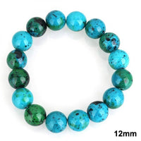 Chrysocolla Earth Stone Bracelet 12mm Bracelet